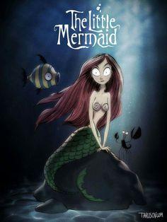 Little Mermaid Tim Burton