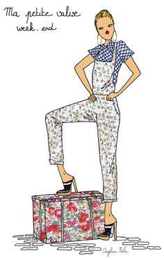 Une valise idéale pour partir en week-end http://www.doitinparis.com/fr/mode-femme/le-look-de-la-semaine/une-valise-ideale-pour-partir-en-week-end-1906 #fashion #holidays