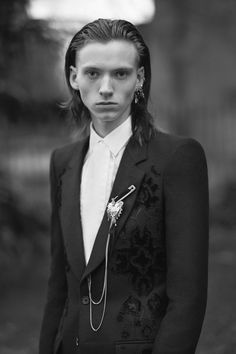 Beautiful men wearing Alexander McQueen in a London park | Dazed
