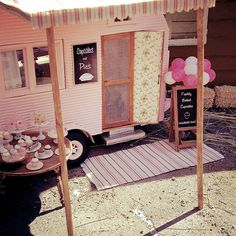 My pink cupcake and pie camper 1:12 scale miniature | by It's a miniature life...is playing with clay