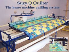 SyzyQQuilter.  Saw this at the Eureka Quilt Show.  Nice sturdy frame and caddy for my home machine.