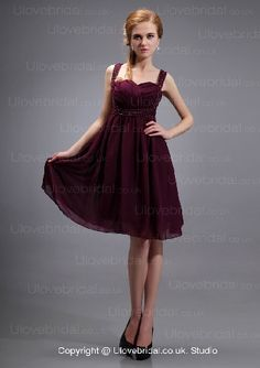 Chic Simple Cheap Chiffon Empire Waist Bridesmaid Dress In Low Price