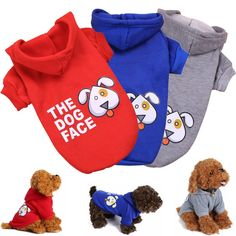 KINGMAS 3 Pieces Dog Hoodies - Pet Puppy Cat Shirt Clothes Apparel Sweatshirt Basic Hoodie Coats >>> Click on the image for additional details. (This is an affiliate link) #MyCat
