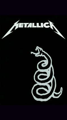 Metallica: The Black Album Metallica Tattoo, Metallica Art, Metallica Album Covers, Metallica Black Album, Rock Chic, Glam Rock, Rock Bands, Metal Bands, Rock Posters