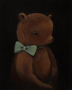 Little Bear Print. The Black Apple on Etsy. Painted by Emily Winfield Martin