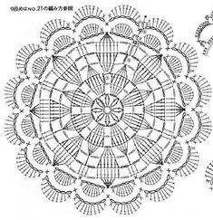 from Crochet motif Crochet Doily Diagram, Crochet Motif Patterns, Crochet Chart, Thread Crochet, Crochet Doilies, Crochet Flowers, Crochet Stitches, Crochet Round, Crochet Squares