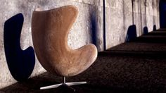 The Egg™ - the world famous chair designed by Arne Jacobsen in 1958 for the lobby and reception areas in the Royal Hotel, in Copenhagen. #egg #scandinaviandesign #arnejacobsen