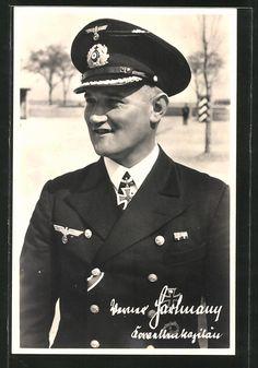 Kapitän zur See Werner Hartmann (1902-1963) -- RK: 9-5-40 Kommandant U-37; Eich(645): 5-11-44 Führer der U-Boote Mittelmeer
