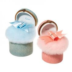 Caron feather puffs. WANT one of these so bad.