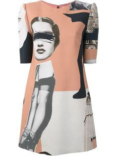 Shop Carven 'Dada Habotai' shift dress in Chalk from the world's best independent boutiques at farfetch.com. Over 1000 designers from 60 boutiques in one website.