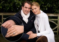 TRH Prince and Princess Nikolaos of Greece Royal Jewels, Crown Jewels, Royal Rings, Royal Engagement Rings, Queen Victoria Descendants, Marie Chantal Of Greece, Greek Royalty, Royal Diamond, Greek Royal Family