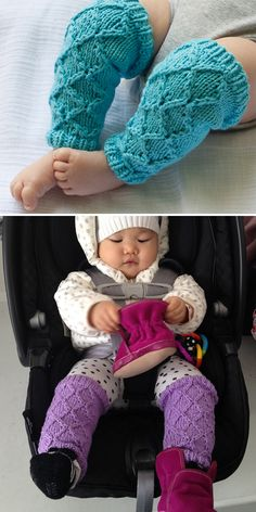 Quick Baby Shower Gift Knitting Patterns - Free Knitting Pattern for Baby's Diamond Legwarmers - These baby leggings are knit seamlessly in the round using right and left twists so you won't ev. Knitting For Kids, Loom Knitting, Free Knitting, Knitting Projects, Loom Patterns, Baby Knitting Patterns, Baby Patterns, Baby Leggings Pattern, Easy Baby Blanket