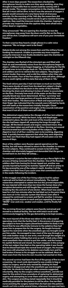 Russian sleeping experiment... - The Meta Picture