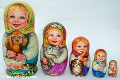 Like these little stackable dolls. Babooshkas (Phonetic. Not correct spelling) I have some from Russia without pets.
