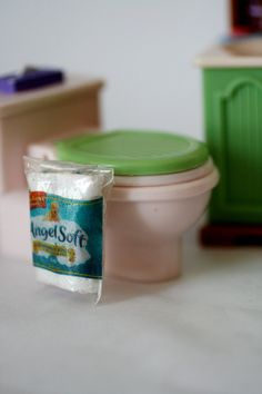 Miniature toilet paper Doll House Scale groceries by AbateArts, $3.00