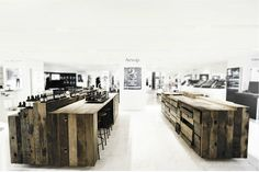 Aesop shop in Hong Kong designed with naturally aged timber from chinese boats