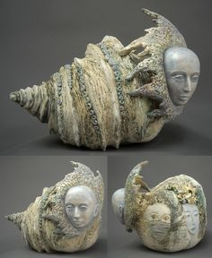 Natasha Dikareva: 'On the Way to Mount Fuji' Mount Fuji, Lion Sculpture, Ceramic Sculptures, Sculpting, Arts And Crafts, Pottery, Clay, Statue, Inspiration