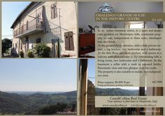 HOUSE IN MONFERRATO HISTORICAL CENTRE-iTALY ON SALE- REF.1406  In a quiet and dominant position on Monferrato hills, residential property on sale, independent in three sides, developed into two levels.  The property is also provided of a cellar with a vault in exposed bricks. Panoramic view and nice glimpse over the castle.  Request: Euro 80.000 Energy Performance:pending certification #casedicollina #italy #monferrato #odalengogrande #hills #realestate