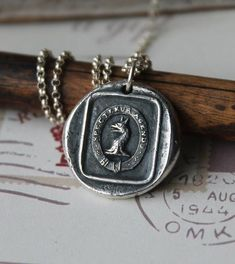 Griffin-Gryphon fob crest wax seal fine silver pendant sterling silver necklace by ALMrozarka on Etsy Sterling Silver Necklaces, Silver Jewelry, Antique Wax, Wax Seals, Handmade Jewelry, Handmade Silver, Pure Products, Pendant, Accessories