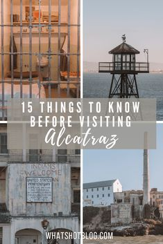 If you're planning a trip to San Francisco then a visit to Alcatraz Island needs to be on your list of things to do. Here are 15 things you need to know before visiting Alcatraz Prison. San Francisco Alcatraz, San Francisco Travel, Usa Travel Guide, Travel Usa, Travel Guides, Travel Tips, Alcatraz Tour, Places To Travel, Travel Destinations