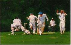 Cricket Painting by John Haskins Cricket Wallpapers, Play N Go, World Of Sports, Painting & Drawing, Paintings, Culture, Drawings, Illustration, Artist
