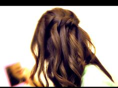 Waterfall Braid with Half Up Hairstyles - For Styling Equipment be sure to see http://www.beautysupplylosangeles.com/829w