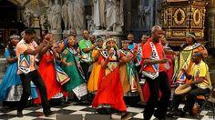 Soweto Gospel Choir.  Tributo a Nelson Mandela en la Abadía de Westminster.  Marzo 2014