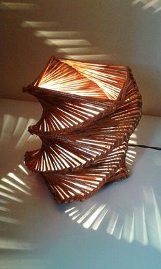 luminária moderna,Papel periódico,Reciclar.