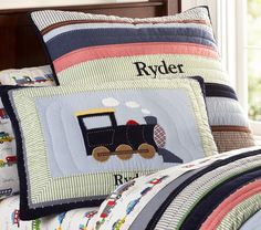 Ryder Train Quilted Bedding