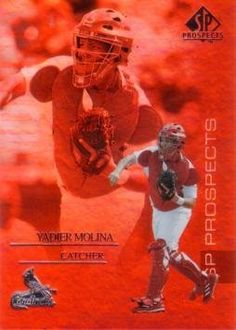 1994 SP Prospects Baseball Yadier Molina Rookie Card by Upper Deck SP. $3.95. 2004 Upper Deck SP Prospects Baseball Yadier Molina Rookie Card.  Near Mint to Mint condition. Comes in a plastic top loader for its protection.