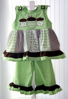 Acorn trio Twirl top and pant set by iveyc95, via Flickr