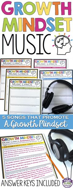 Help your students develop a growth mindset with these 5 modern, engaging assignments that have students examine a song that promotes a growth mindset! The resource includes links to the music videos, 5 assignments, and detailed answer keys!