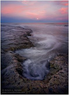 Hunting Island Moonrise, South Carolina by Richard Bernabe, via Flickr