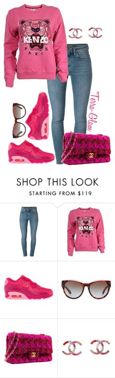 """Pink Kenzo"" by terra-glam ❤ liked on Polyvore featuring Yves Saint Laurent, Kenzo, NIKE, Michael Kors and Chanel"