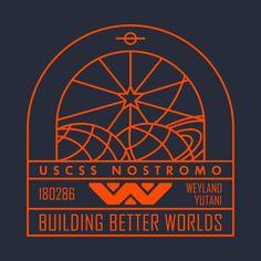Check out this awesome 'Nostromo+Weyland+Yutani+Ship' design on Alien Vs Predator, Vector Pop, Alien Covenant, Gamer Room, Saga, Alien Art, Xenomorph, Fantasy Inspiration, Sci Fi Fantasy