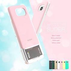 Galaxy S6 Edge Case, DESIGNSKIN® SLIDER - [TPU + PC] Triple Layer Perfect Bumper Protection Slide Case w/ Credit Card Storage Slot for Samsung Galaxy S6 Edge (Fresh Mint) ¡¦