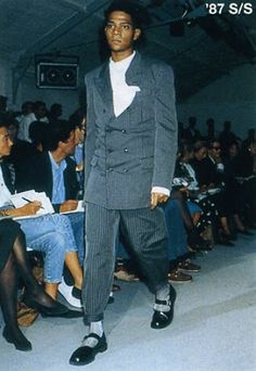 Basquiat walks in Comme des Garçons fashion show S/S '87 Collection