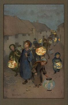 martinmas    Lantern postcards by Sybil Barham (1877 -1950) martinmas post here http://ancienthearth2.blogspot.com/2009/11/happy-martinmas.html