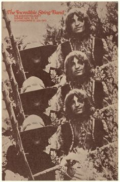 The Incredible String Band Poster from Boston Tea Party (Boston, MA), Nov 1969 Rock Posters, Band Posters, Concert Posters, Music Posters, Event Posters, Boston Tea, Experimental Music, Psychedelic Music, Vintage Rock