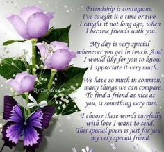ideas birthday quotes for best friend friendship poems bffs for 2019 Special Friend Quotes, Best Friend Poems, Special Friends, Friend Sayings, Real Friends, Birthday Special Friend, Special Prayers, Sister Friends, Birthday Messages For Sister