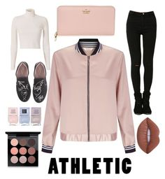 """Cute Athletic"" by nat-s-x ❤ liked on Polyvore featuring Miss Selfridge, A.L.C., Kate Spade, Lime Crime, Nails Inc., MAC Cosmetics and Vivienne Westwood"