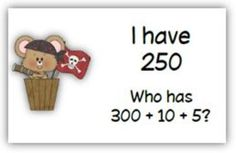 I Have/Who Has Place Value to the Hundreds. Students match the expanded forms of 3-digit numbers to standard form in this popular whole-class game. Includes 3 printables for extra practice or assessment.
