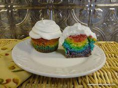 Saint Patrick's Day Rainbow Cupcakes