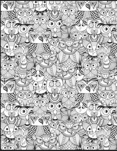 The Owl Doodle From Coloring Book Vol 2 Is One Of My Favs