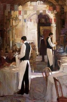 """""""Two Waiters"""" by artist Philip Craig *"""