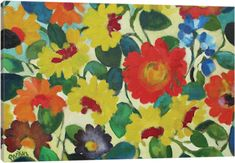 Image result for zinnia  painting