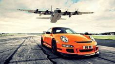 Orange Porsche 911 GT3 Wallpaper HD 1080p Wallpaper