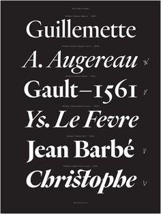Specimen, Heldane typeface, 2014