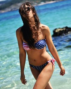 American Flag Pattern Bikini by иChoies