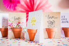 LET LOVE GROW! L'idée? Offrir ce petit pot rempli de  terreau et de quelques graines.